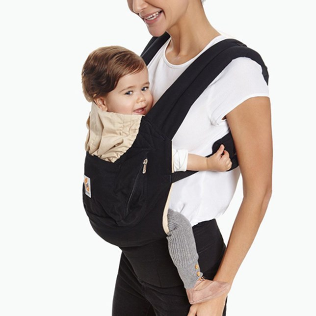 Original Baby Carrier: Black-Camel