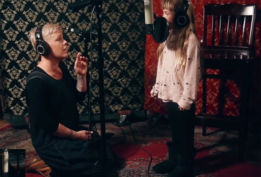 Image result for pink sings with daughter