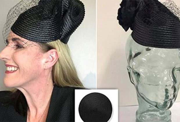 Woman makes stylish Derby Day fascinator from Kmart tablemat for just  1.50! 4553d8f97f4